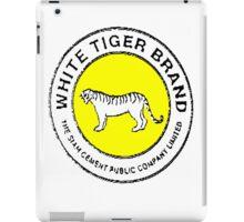 White Tiger - Yellow iPad Case/Skin