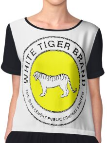 White Tiger - Yellow Chiffon Top