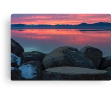 Fire Sky! (Lake Tahoe) Canvas Print