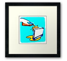 Wii with juice Framed Print