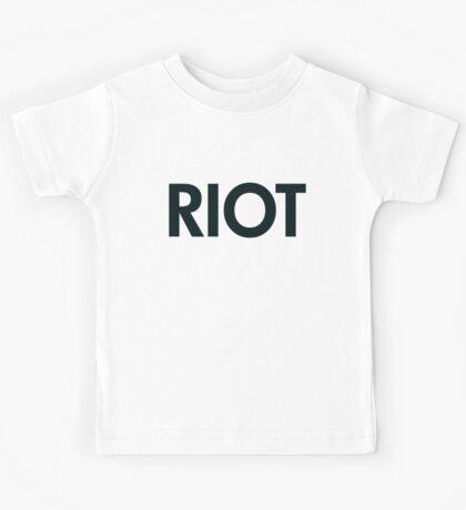 Riot (black) Kids Tee