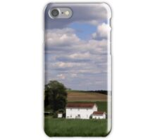 White house in a green field iPhone Case/Skin