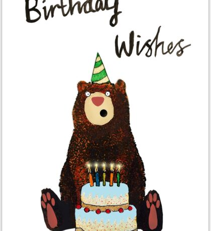 Birthday Bear Sticker