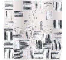 Modern Pencil Line Pattern Poster