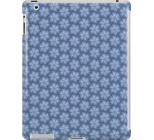 Triangle and Hexagon Pattern in Blue iPad Case/Skin