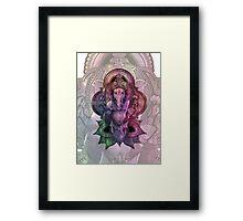 Ganesha Color2 - white Framed Print