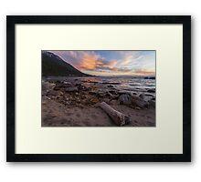 Dusk at Hidden Beach Framed Print
