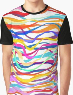 Abstract Seamless Colorful Striped Background Graphic T-Shirt