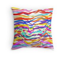 Abstract Seamless Colorful Striped Background Throw Pillow