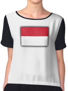 Indonesia, Indonesian Flag, Flag of the Republic of Indonesia, Jakarta Chiffon Top