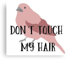 Don't Touch My Hair Canvas Print
