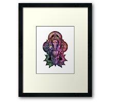 Ganesha Color - white Framed Print