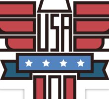 USA Eagle Emblem Sticker