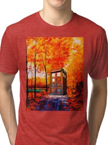 tardis in the woods Tri-blend T-Shirt