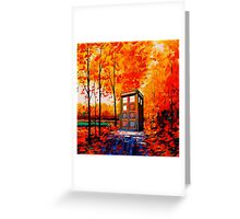 tardis in the woods Greeting Card