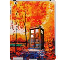 tardis in the woods iPad Case/Skin