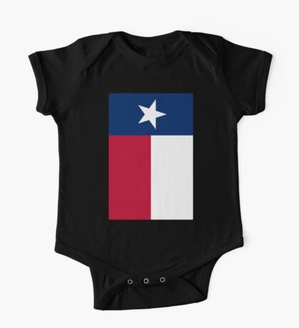 TEXAS, Lone Star, Texas Flag, PORTRAIT, Flag of the State of Texas, USA, America, American, on BLACK One Piece - Short Sleeve