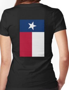 TEXAS, Lone Star, Texas Flag, PORTRAIT, Flag of the State of Texas, USA, America, American, on BLACK Womens Fitted T-Shirt