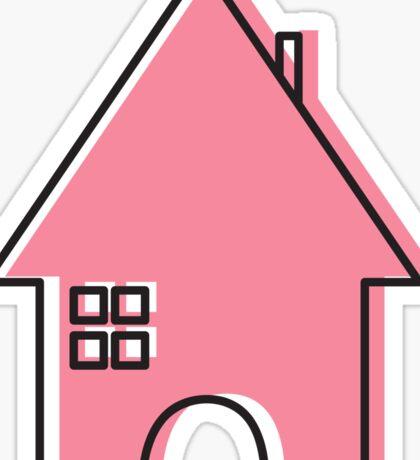 House (pink) Sticker