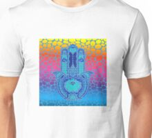 Colorful Lotus Hamsa Unisex T-Shirt