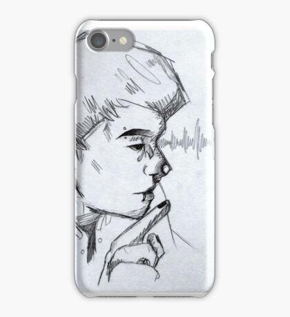 """DAN + PIERCINGS"" - Dan Howell Sketch  iPhone Case/Skin"