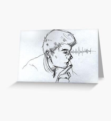 """""""DAN + PIERCINGS"""" - Dan Howell Sketch  Greeting Card"""