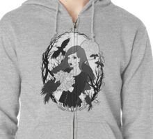 Bouquet of Raven Zipped Hoodie