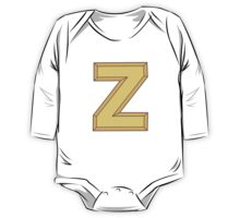 Z illustrated alphabet letter One Piece - Long Sleeve
