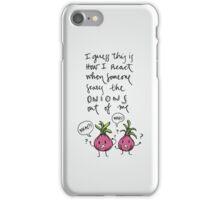 Onions (black) iPhone Case/Skin