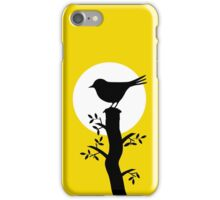 The Swallow on the Tree (Minimalist Art) Silhouette iPhone Case/Skin