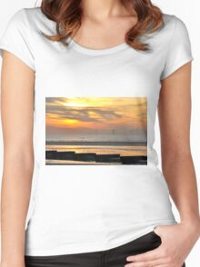 the pipeline another place Women's Fitted Scoop T-Shirt