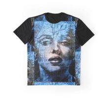 Blue Marilyn Graphic T-Shirt