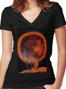 WDV - 721 - Embryo Replacement Women's Fitted V-Neck T-Shirt
