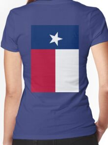 TEXAS, Lone Star, Texas Flag, FULL COVER, Flag of the State of Texas, USA, America, American Women's Fitted V-Neck T-Shirt