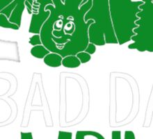 A Bad Day Camping Is Better Than Good Day At Work Sticker