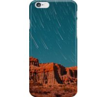 Star Trails Comets Streak Over Red Rock Canyon iPhone Case/Skin