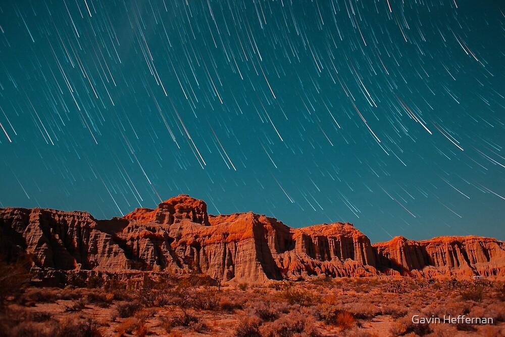 Star Trails Comets Streak Over Red Rock Canyon by Gavin Heffernan