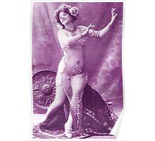 A vintage female dancer photograph Poster
