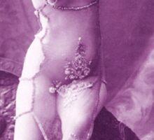 A vintage female dancer photograph Sticker