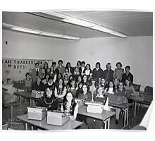 1973 LOWES HIGH SCHOOL TYPING CLASS, LOWES, GRAVES COUNTY, KENTUCKY Poster