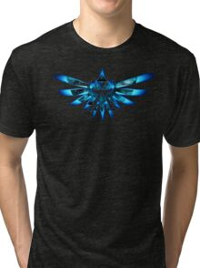 Blue Triforce The legend of zelda Tri-blend T-Shirt