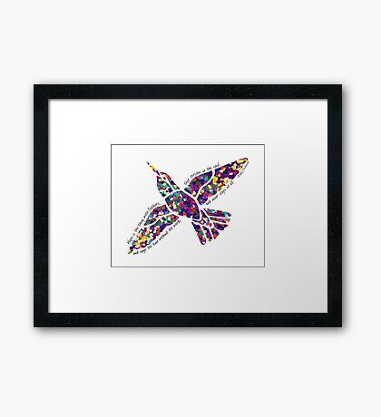 Hope Is The Thing With Feathers Framed Print