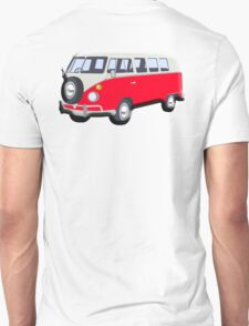 Volkswagen Van, RED, Camper, Split screen, 1966 Volkswagen, Kombi, North America, VW Bus Unisex T-Shirt