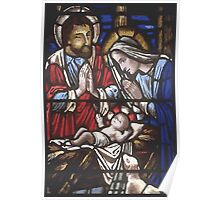 Church Window Glass, Holy Family Art Poster