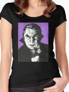 Dracula Classic Gothic Horror Women's Fitted Scoop T-Shirt