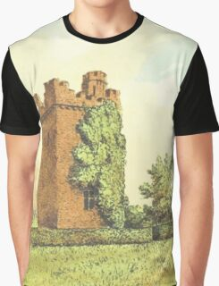Rochford Tower (Homes of our Forefathers in Boston, Old England, and Boston, New England', Edwin Whitefield, 1889.) Graphic T-Shirt