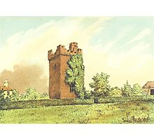 Rochford Tower (Homes of our Forefathers in Boston, Old England, and Boston, New England', Edwin Whitefield, 1889.) Photographic Print