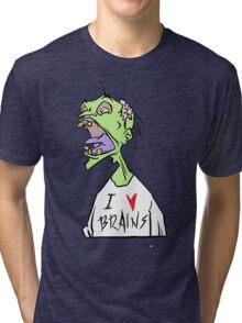 Brains! Tri-blend T-Shirt