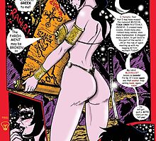"""Space Chick & Nympho: Vampire Warrior Party Girl Comix #1- """"The Parchment May be Broken"""" by TexWatt"""