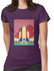 Sci-Fi Building Poster Womens Fitted T-Shirt